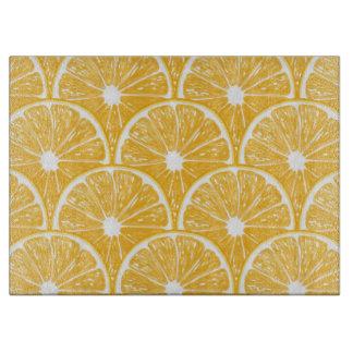 Orange slices, tropical fruit pattern design boards