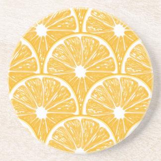 Orange slices, tropical fruit pattern design coaster
