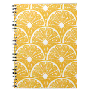 Orange slices, tropical fruit pattern design notebook