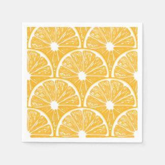 Orange slices, tropical fruit pattern design paper napkin