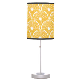 Orange slices, tropical fruit pattern design table lamp