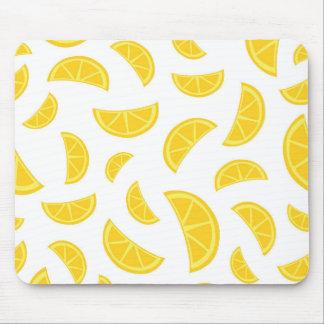 Orange Slices - White Mouse Pad