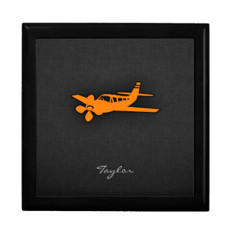 Orange Small Airplane Gift Box