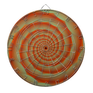 Orange Snake Skin Spiral Dartboard