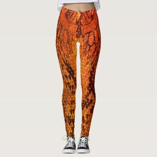 Orange Snake skin style legging. Leggings