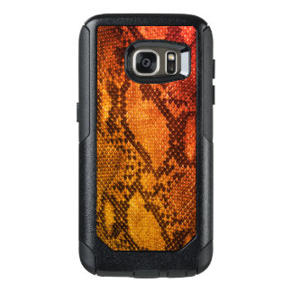 Orange Snake skin style Samsung Cases