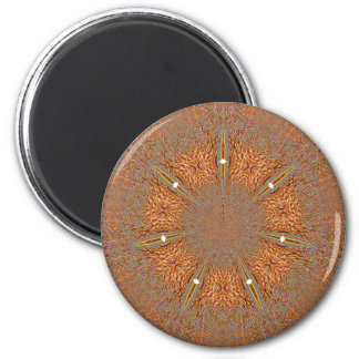 Orange Snowflake Magnet