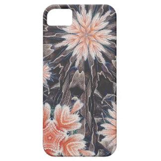 Orange Snowflakes Winter Theme iPhone 5 Case