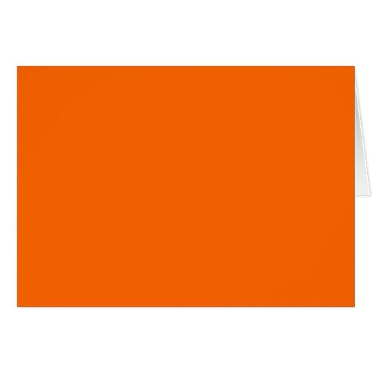 Orange Solid Colour Card