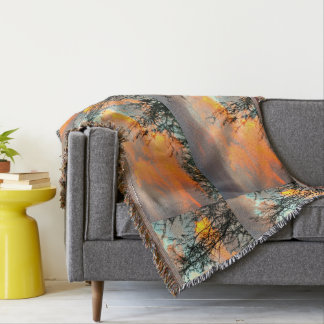 Orange Sonoran Sky Throw Blanket