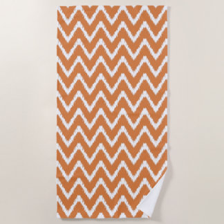 Orange Southern Cottage Chevrons Beach Towel