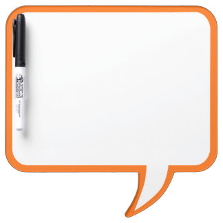 Orange Speech Bubble Wall Decor Customize This Dry Erase Board