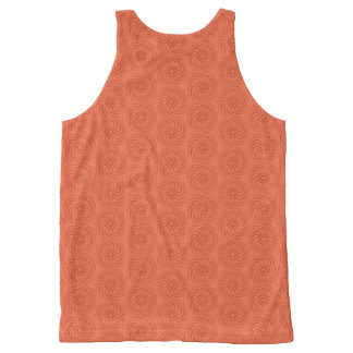 Orange spirals All-Over-Print tank top