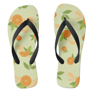 Orange Splash Flip Flops