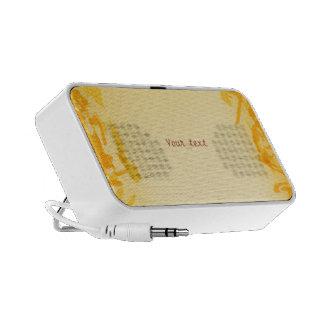 Orange Splatter Design Laptop Speaker