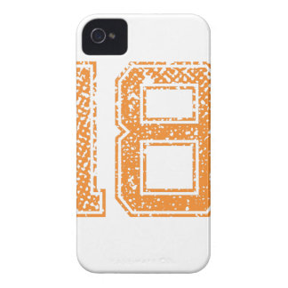 Orange Sports Jerzee Number 18.png Case-Mate iPhone 4 Cases