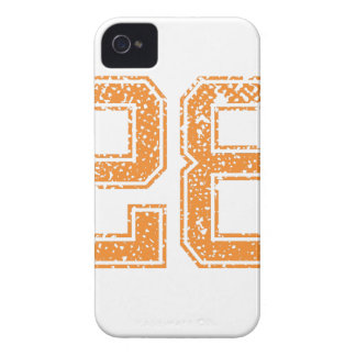 Orange Sports Jerzee Number 28.png Case-Mate iPhone 4 Case