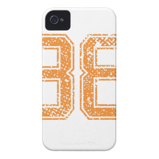 Orange Sports Jerzee Number 38.png iPhone 4 Cases