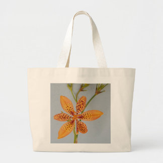 Orange spotted Iris called a  Blackberry lily Large Tote Bag