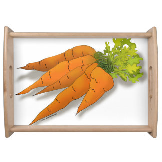 Orange Spring Carrots Drawing Serving Tray