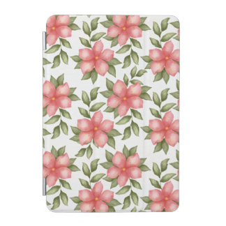 Orange spring watercolor flowers and vines iPad mini cover
