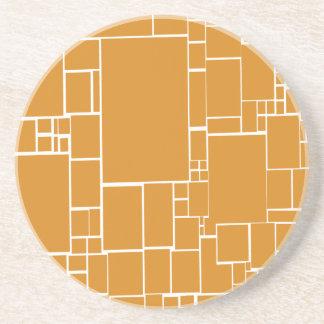 Orange Squares Coasters
