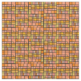 Orange Stained Glass Fabric