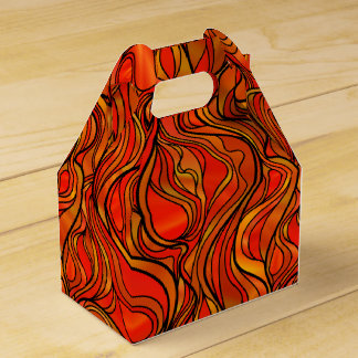 Orange Stained Glass Favor Box