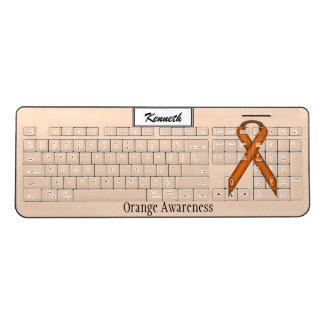 Orange Standard Ribbon by Kenneth Yoncich Wireless Keyboard
