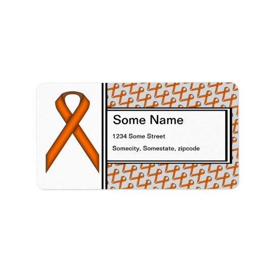 Orange Standard Ribbon Label