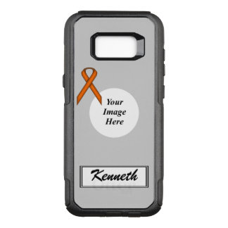 Orange Standard Ribbon Template by Kenneth Yoncich OtterBox Commuter Samsung Galaxy S8+ Case