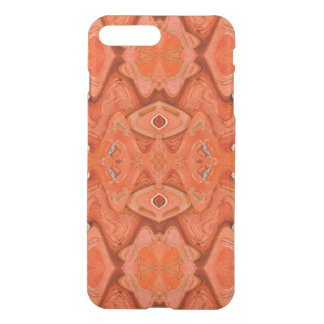 Orange Star Abstract design iPhone 7 Plus Case
