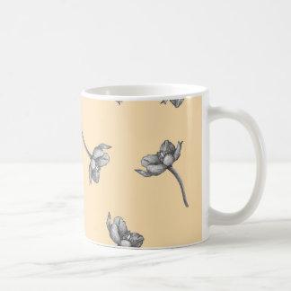 Orange Star Blossom Mug - On Orange