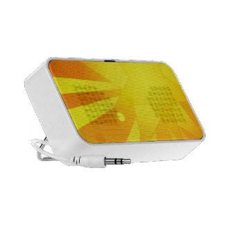 Orange Star Burst Design Mini Speakers