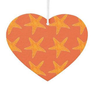 Orange Star Fish Starfish Ocean Beach Marine Life Car Air Freshener