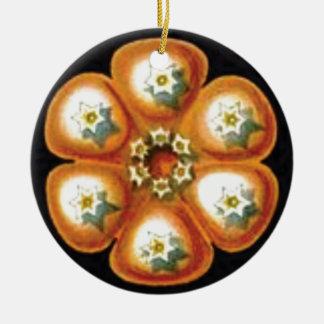 orange star flower pattern ceramic ornament