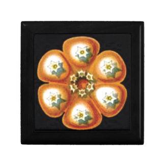 orange star flower pattern gift box