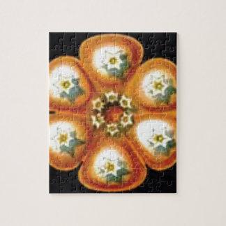 orange star flower pattern jigsaw puzzle