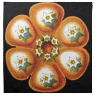 orange star flower pattern napkin