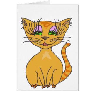 Orange Star KwazyKatz Greeting Card