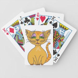 Orange Star KwazyKatz Bicycle Poker Cards