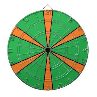 orange starbursts dartboard