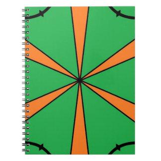 orange starbursts notebook