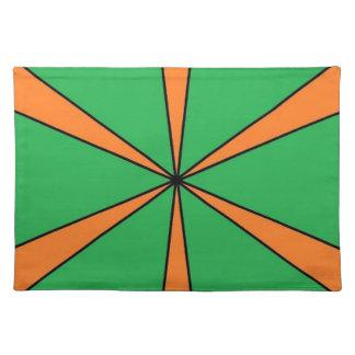 orange starbursts placemat