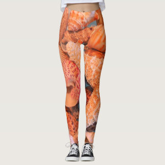 Orange Starfish - Leggings