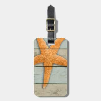Orange Starfish Luggage Tag