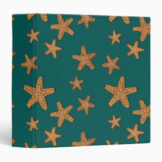 Orange Starfish Pattern Binder