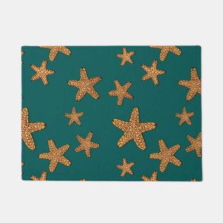 Orange Starfish Pattern Doormat