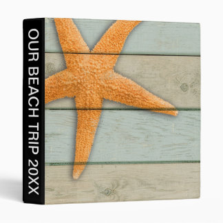 Orange Starfish Vinyl Binders