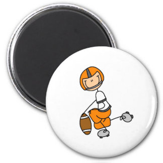 Orange Stick Figure Football Tshirts and Gifts Magnet